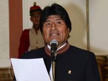 Boliviens Präsident Evo Morales kickt gerne