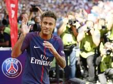 Neymar bei seiner Vorstellung in Paris