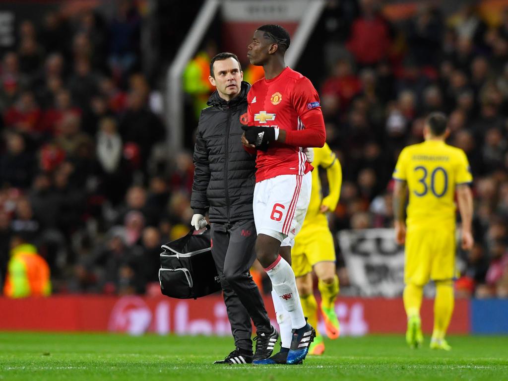 Paul Pogba fehlt Manchester United mehrere Wochen