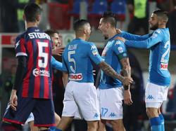 Dank Rekord-Torschütze Hamsik baut Neapel die Tabellenführung weiter aus