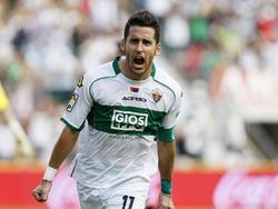 Elches Coro freut sich über den Siegtreffer gegen Espanyol