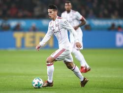 James Rodríguez spielt sein Saisonbeginn für den FC Bayern München