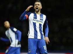 Herthas Stürmer Vedad Ibišević will auch gegen den VfL Wolfsburg treffen
