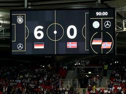 Das DFB-Team schenkt Norwegen sechs Tore ein