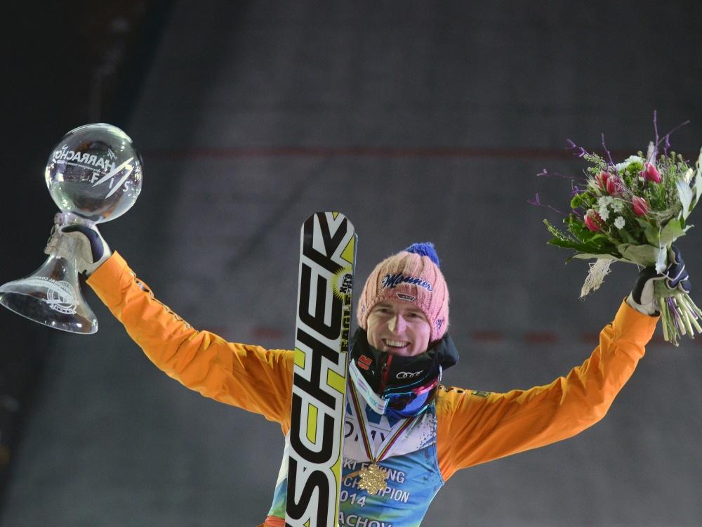 Severin Freund gewann die Skiflug-WM 2014 in Harrachov