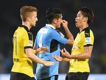 Shinji Kagawa (r.) trifft beim BVB-Test doppelt