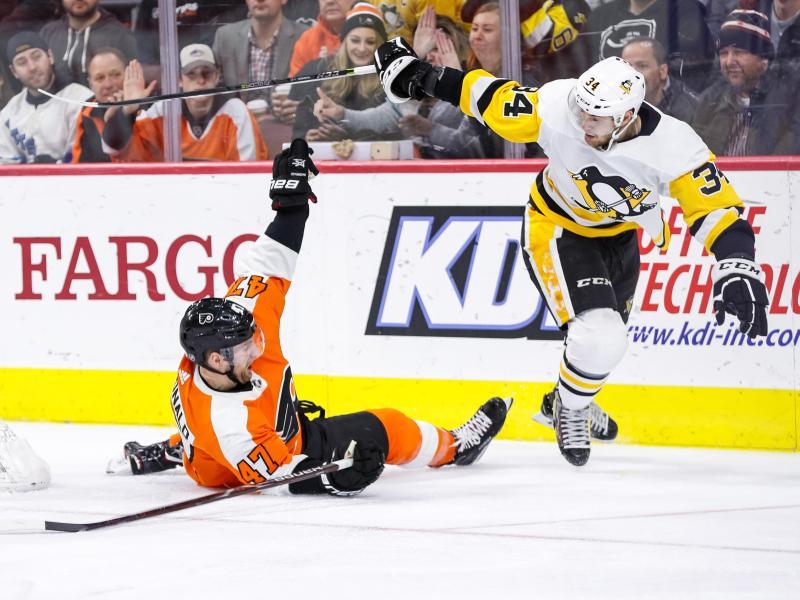 Die Pittsburgh Penguins feierten einen Sieg gegen die Philadelphia Flyers