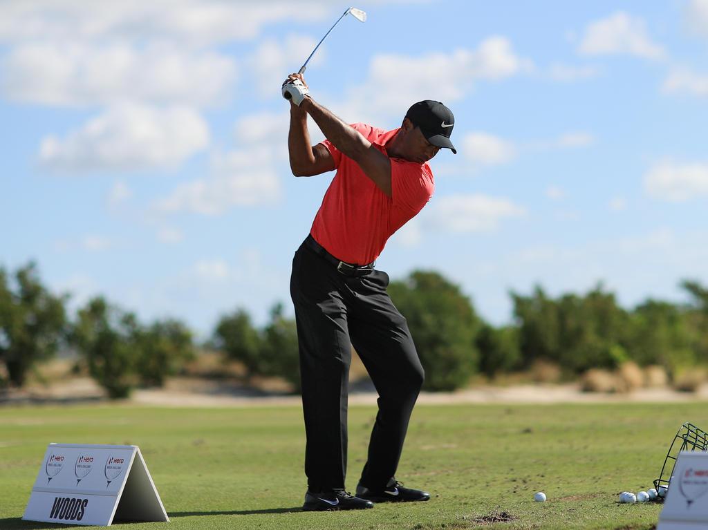 Zum Abschluss spielte Tiger Woods auf dem Par-72-Kurs eine 68
