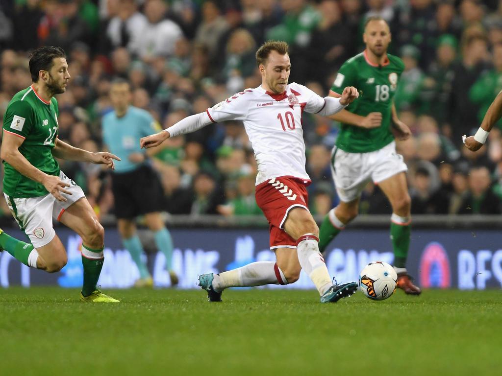 Christian Eriksen traf im Rückspiel gegen Irland dreifach