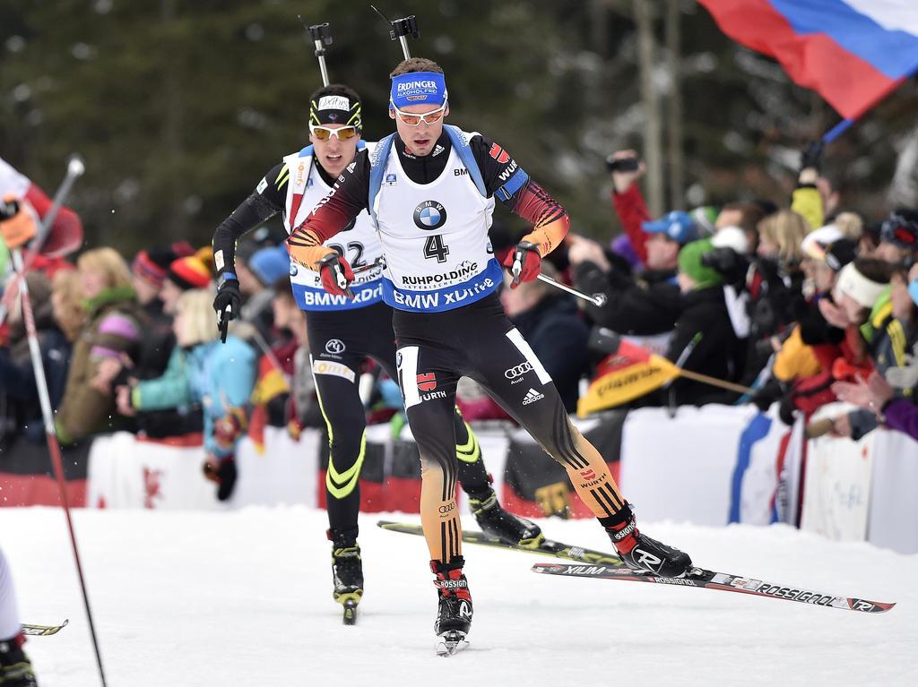 Simon Schempp und die deutsche Staffel landete in Ruhpolding auf Platz drei