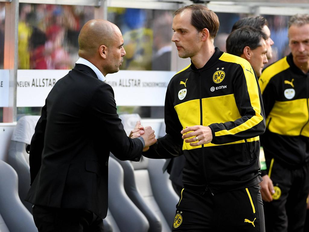 Thomas Tuchel (r.) könnte schon bald als neuer Bayern-Trainer präsentiert werden