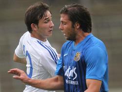 ChristophSiefkes ( Neuzugang FC Carl Zeiss Jena 2011/12 ) und Marius Laux ( Neuzugang 1. FC Saarbrü