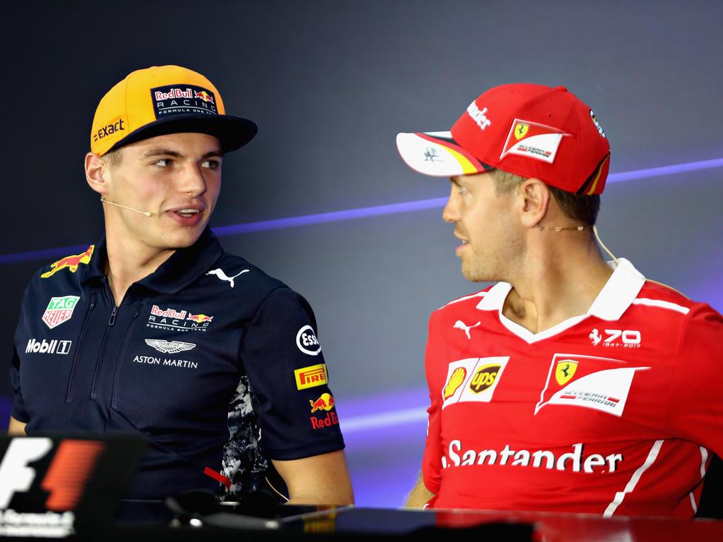 Hätten laut Briatore Teamkollegen sein sollen: Max Verstappen (l.) und Sebastian Vettel